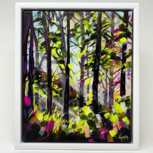 in klöver | ni design - Lynsay Green - 'Forest Light I' Original Acrylic on Canvas